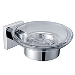 Soap Dish Holder,Solid Brass Finish Chrome,Bathroom Accessory(0640-3203)