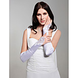 Opera Length Fingerless/Shiny Glove Satin Bridal Gloves
