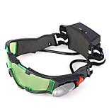 occhiali per la visione notturna con le luci led verde lente colorata con inciso grafica