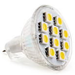 GU4(MR11) Faretti LED MR11 10 SMD 5050 120 lm Bianco caldo DC 12 V