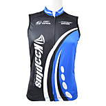 KOOPLUS Bike/Cycling Vest/Gilet / Tops Men's Sleeveless Breathable / Quick Dry / Front Zipper / Wearable 100% Polyester BlueXS / S / M /