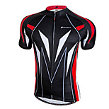 NUCKILY Bike/Cycling Jersey / Tops Men's Short Sleeve Breathable / Quick Dry / Front Zipper / Wearable 100% Polyester PatchworkYellow /