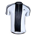 NUCKILY Bike/Cycling Jersey / Tops Men's Short Sleeve Breathable / Quick Dry / Front Zipper / Wearable 100% Polyester WhiteS / M / L / XL