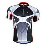 NUCKILY Bike/Cycling Jersey / Tops Men's Short Sleeve Breathable / Quick Dry / Front Zipper / Wearable 100% Polyester Patchwork BlackS /