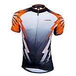 NUCKILY Bicicletta/Ciclismo Maglietta/Maglia / Top Per uomo Maniche corte Traspirante / Asciugatura rapida / Zip anteriore / Indossabile