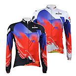 KOOPLUS Bike/Cycling Jersey / Tops Men's Long Sleeve Breathable / Quick Dry / Front Zipper 100% Polyester Floral / Botanical White / Black