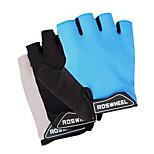 Cycling Gloves Fingerless Mesh+Cloth+Fiber Non-Slip+Breathable Half-Finger 41413