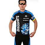 INBIKE Bike/Cycling Jersey + Shorts / Clothing Sets/Suits Men's Short Sleeve Breathable / Quick Dry / Front Zipper100% Polyester /