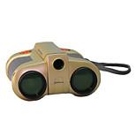 4x 30 mm Binocolo Visione notturna Messa a fuoco centrale Giocattolo per bambini Oro