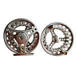 9/11 95mm Fly Reel with a Spare Spool (Black/Silver/God)