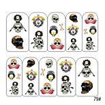 5PCS Water Transfer Printing Colorful Nail Stickers NO.2