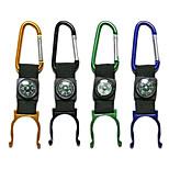 Алюминиевый портативный карабин/компас с держателем для бутылки (цвет случайный)