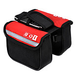 Bike Frame Bag / Bike Saddle Bag / Cycle Bag Skidproof / Shockproof Leisure Sports / Cycling/Bike Cloth / 600D Ripstop Red