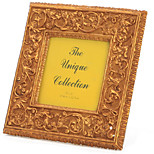 ALLEN Bronze Classical Flower Square Photo Frame Resin