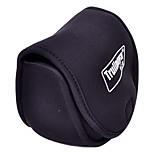 Trulinoya-Portable Spinning Wheel Shaped Black Fishing Reel Bag