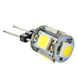 G4 1W 5x5050SMD 70-80LM  Natural White Light LED Corn Bulb (12V)