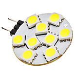 G4 1.5W 9x5050SMD 90-120LM 6000-6500K Natural White LED Bulb Pontual (12V)