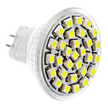 MR11 1.5W 30x3528SMD 150-180LM 6000-6500K Natural White Light LED Spot Bulb (DC 12V)