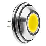 G4 1.5W 125-140LM 6000-6500K Natural White Light arredondado Lâmpada LED spot (12V)