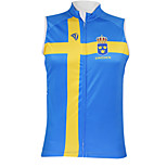 Kooplus2013 Championship Jersey Sweden 100% Polyester Wicking Fibers Sleeveless Cycling Vest with Reflective Tape