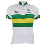Kooplus2013 Championship Jersey Australia 100% Polyester Wicking Fibers Cycling T-Shirt with Reflective Tape