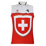 Kooplus2013 Championship Jersey Switzerland 100% Polyester Wicking Fibers Sleeveless Cycling Vest with Reflective Tape