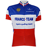 Kooplus 2015 Championship Cycling Jersey France 100% Polyester Wicking T-Shirt with Reflective Tape