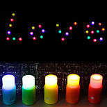 Colorized Candle Shaped DIY Night Light (5 PCS)