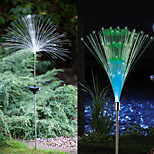 Set Of 2 Solar Fiber Optic Light Fountain Garden Stake(Cis-57185)