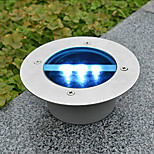 Solar Power Rotondo da incasso Deck Dock Via del giardino luce a led (cis-57154)