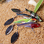 1 pcs Hard Bait / Metal Bait / Fishing Lures Hard Bait / Metal Bait Black / Green / Red g Ounce mm inch,MetalSea Fishing / Freshwater
