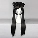 Cosplay Wigs Cardcaptor Sakura Li Meiling Black Long Anime Cosplay Wigs 80 CM Heat Resistant Fiber Female