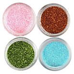 4 Colors Laser Glitter Acrylic Powder Set For 3D Nail Art No.1