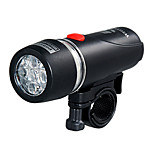 Front Bike Light 5-LED Black Bicycle Headlight with Batteries Set