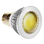 B22 3 W 1 COB 270-300 LM Cool White Spot Lights AC 85-265 V