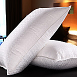 Cotton/Linen Down Feather Jacquard Bed Pillow