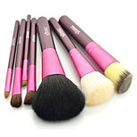7 Makeup Brushes Set Pony / Goat Hair / Horse Face / Lip / Eye