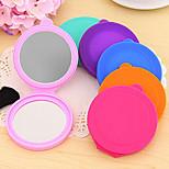 Funda de silicona pequeño espejo del maquillaje