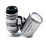 Mikroskop - Normal 60x X 10mm Silber