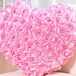 lebendige moderne rosa Rose Cluster Herzform Kissen Neuheit