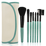 Make-up For You® 7pcs Makeup Brushes set  Limits bacteria/Portable Coral Green Blush/Eyeshadow Brush Makeup Tool Cosmetic Brush Set