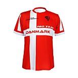 KOOPLUS - Danish National Team Polyester+Lycra Short Sleeve Red+White Cycling T-Shirt