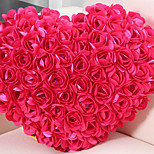 Vivid Modern Rose Cluster Heart Shape Novelty Pillow