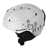 MOON Unsiex Gray Vine White Fall/Winter ABS Ski/Snowboard Helmet
