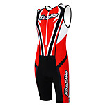KOOPLUS - Triathlon suit Cycling Clothing Red+Black Sleeveless Wear and Shorts Conjoined Cycling Clothing