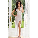 Charming Girl Pure White Mesh Transparent Women's Lingerie Sexy Uniform