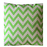 Ever Green Wave Stripe Decorative Pillow with Insert