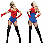 Cosplay Costumes / Party Costume Super Heroes Festival/Holiday Halloween Costumes Red Color Block Leotard/Onesie / GlovesHalloween /