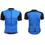 Jaggad Summer Unisex Black Blue Polyester Spandex Rear Pocket Cycling Jersey