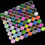 72-Color Glitter Powder Nail Art Decorations